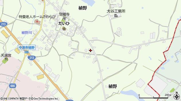 大分県中津市植野642周辺の地図