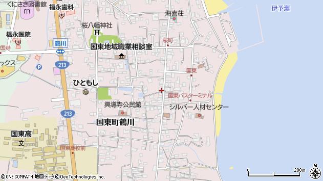 大分県国東市国東町鶴川1250周辺の地図