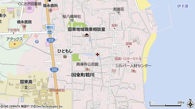 大分県国東市国東町鶴川1233周辺の地図