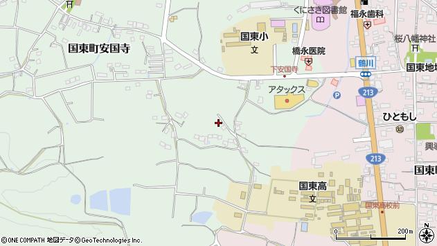 大分県国東市国東町安国寺543周辺の地図