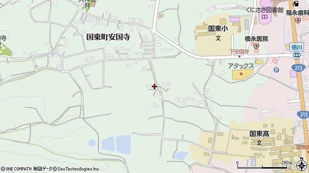 大分県国東市国東町安国寺431周辺の地図
