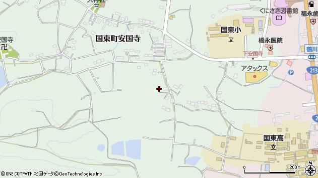 大分県国東市国東町安国寺435周辺の地図