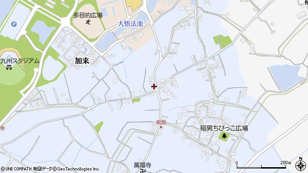 大分県中津市加来568周辺の地図