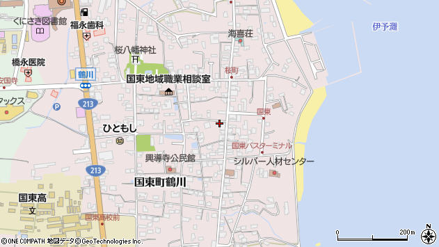 大分県国東市国東町鶴川1284周辺の地図