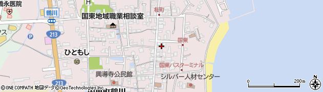 大分県国東市国東町鶴川621周辺の地図
