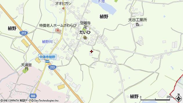 大分県中津市植野412周辺の地図