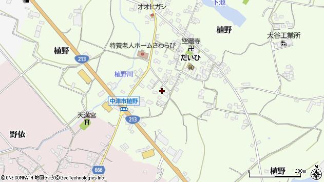 大分県中津市植野344周辺の地図