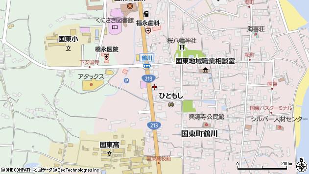 大分県国東市国東町鶴川1894周辺の地図