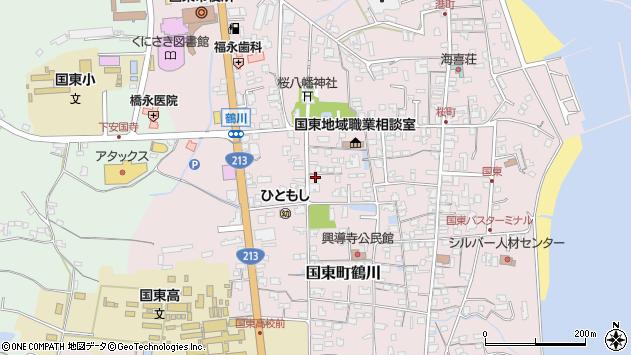 大分県国東市国東町鶴川1347周辺の地図