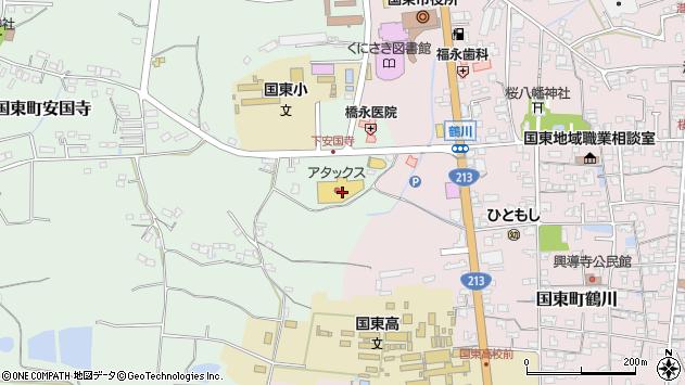 大分県国東市国東町安国寺25周辺の地図