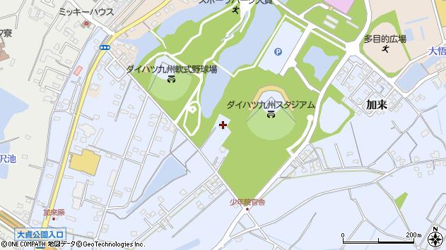 大分県中津市加来377周辺の地図