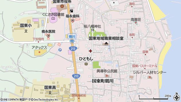 大分県国東市国東町鶴川1846周辺の地図