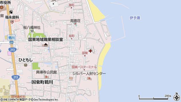大分県国東市国東町鶴川556周辺の地図