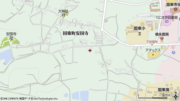大分県国東市国東町安国寺418周辺の地図
