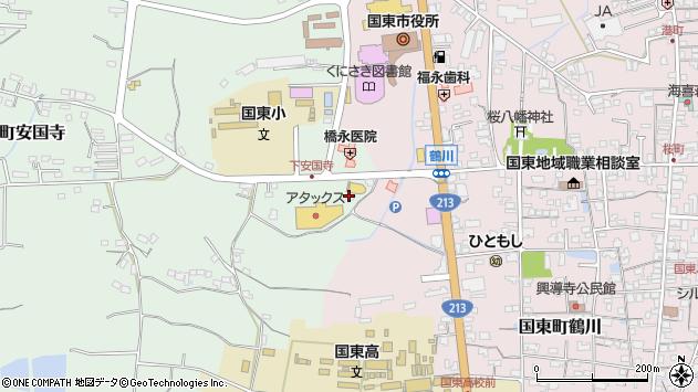 大分県国東市国東町安国寺19周辺の地図
