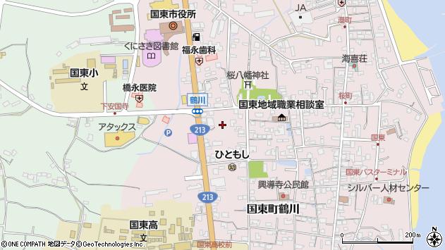 大分県国東市国東町鶴川1858周辺の地図