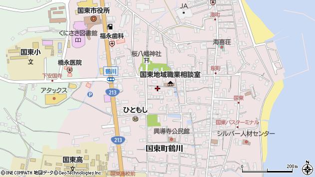 大分県国東市国東町鶴川1342周辺の地図