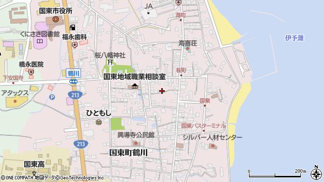 大分県国東市国東町鶴川1309周辺の地図