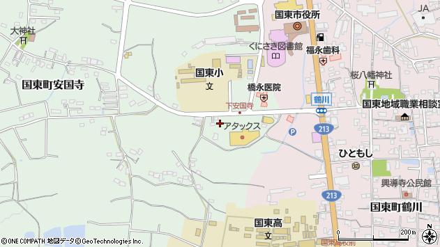 大分県国東市国東町安国寺860周辺の地図