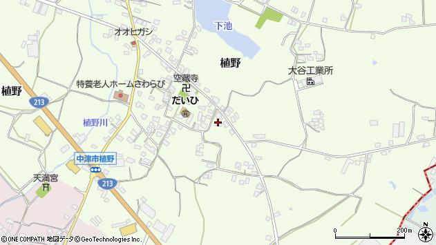 大分県中津市植野287周辺の地図