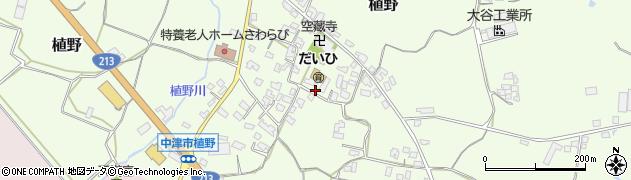大分県中津市植野301周辺の地図