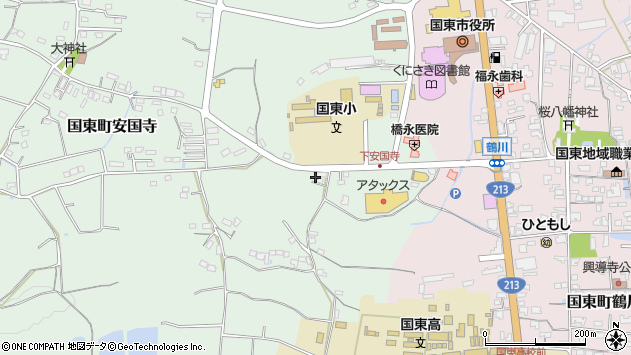 大分県国東市国東町安国寺640周辺の地図