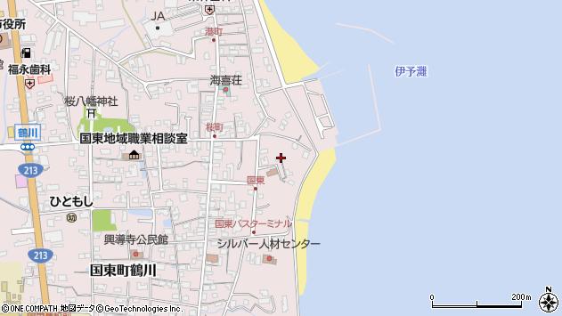 大分県国東市国東町鶴川581周辺の地図