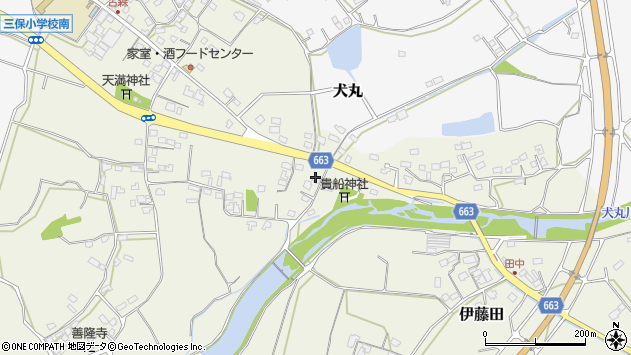 大分県中津市伊藤田2678周辺の地図