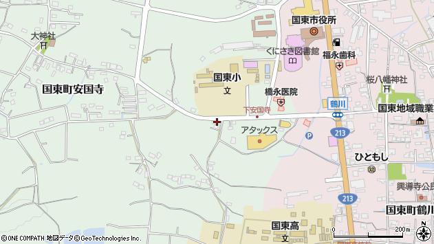 大分県国東市国東町安国寺641周辺の地図