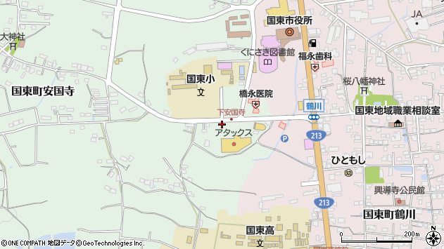 大分県国東市国東町安国寺681周辺の地図