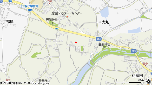大分県中津市伊藤田2625周辺の地図