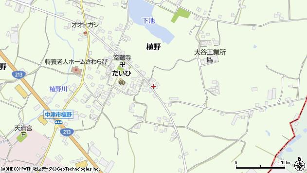 大分県中津市植野285周辺の地図