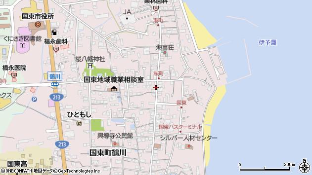 大分県国東市国東町鶴川1300周辺の地図