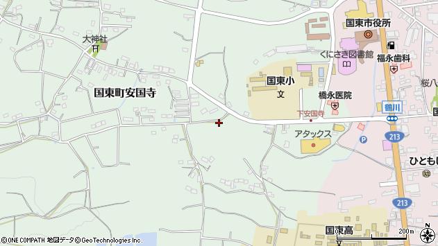 大分県国東市国東町安国寺599周辺の地図