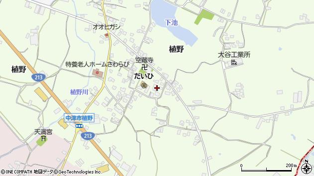 大分県中津市植野292周辺の地図