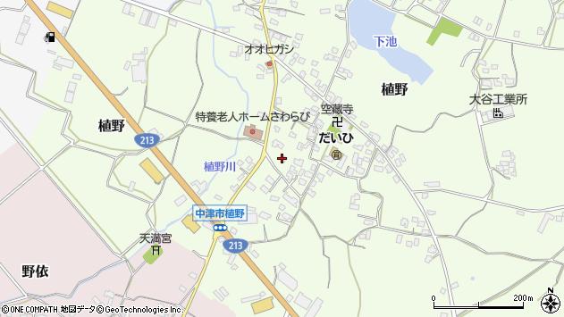 大分県中津市植野334周辺の地図