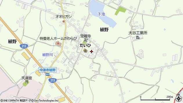 大分県中津市植野294周辺の地図