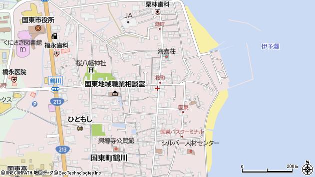 大分県国東市国東町鶴川1314周辺の地図