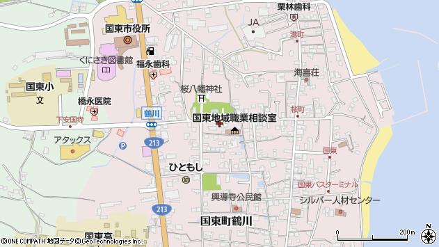 大分県国東市国東町鶴川1338周辺の地図