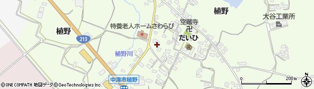 大分県中津市植野335周辺の地図