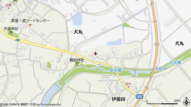 大分県中津市伊藤田2381周辺の地図
