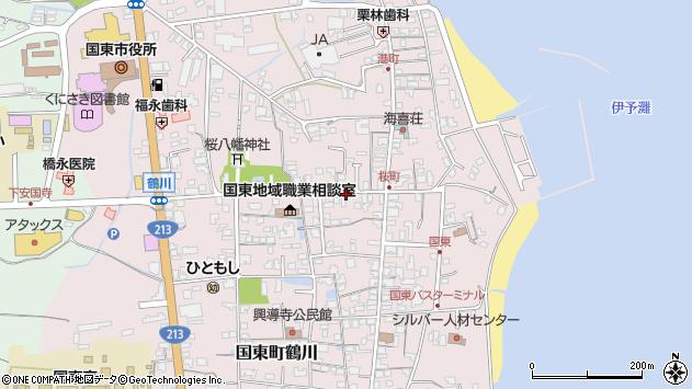 大分県国東市国東町鶴川1322周辺の地図