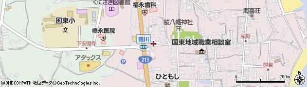 大分県国東市国東町鶴川209周辺の地図