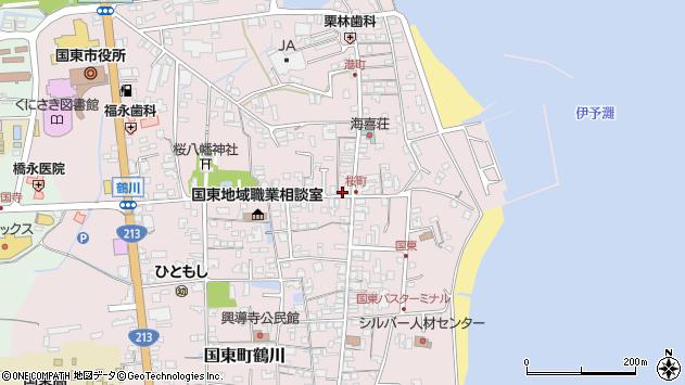 大分県国東市国東町鶴川433周辺の地図