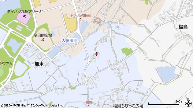 大分県中津市加来457周辺の地図