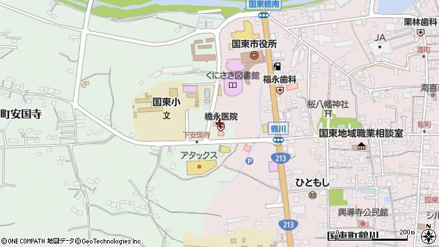 大分県国東市国東町安国寺11周辺の地図