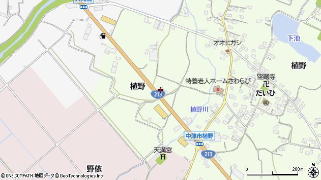 大分県中津市植野107周辺の地図