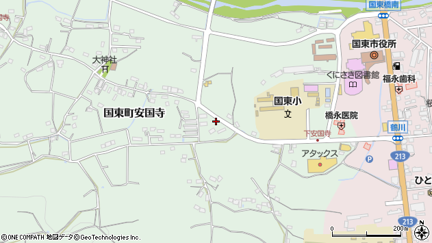 大分県国東市国東町安国寺592周辺の地図
