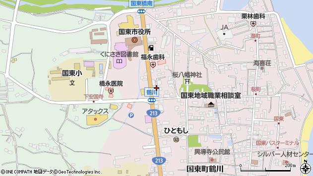 大分県国東市国東町鶴川1155周辺の地図