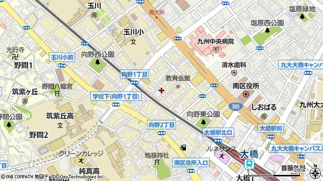 福岡県福岡市南区向野周辺の地図